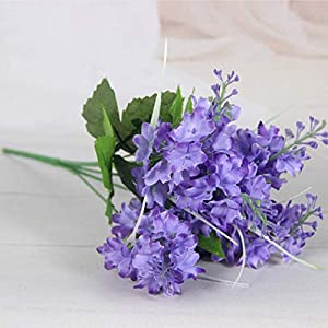 MARJON Flowers3 Bunches Artificial Flower 5 Heads Simulated Hyacinth Faux Flower Fake Flower 15