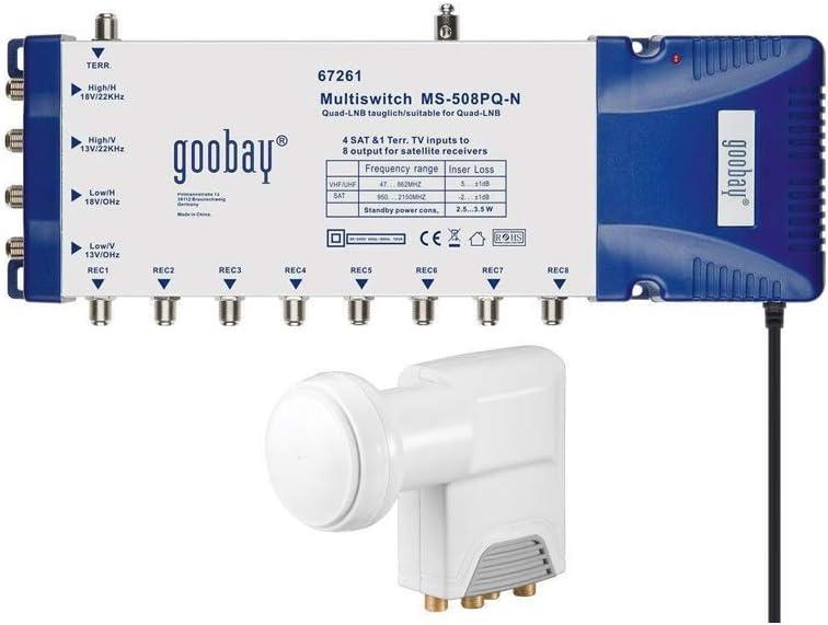 Goobay 67251 Kit T/ête Universelle//Commutateur Multiple