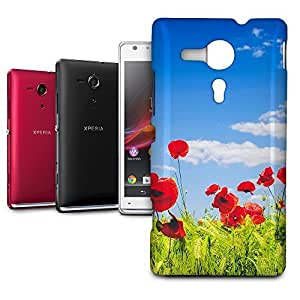 Phone Case For Sony Xperia SP M35H - Red Poppies Field Slim Cover