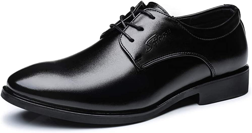 YLY Men Business Oxford Casual Comfortable Classic Pure Color Round Toe Gentleman Style Formal Shoes Dress Shoes
