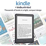 Kindle - Now with a Built-in Front Light - Black - Ad-Supported + Kindle Unlimited (with auto-renewal)