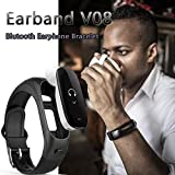 Sunfei Bluetooth Smart Watch Blood Pressure Heart Rate Monitor Earband Support Siri Ans