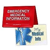 StoreSMART - Folding Wallet Vial of Life & Pet Records - 5-Pack - Emergency Medical Information Holder for ID - VOLPRWLT-5