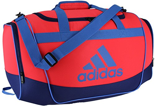 adidas Defender Duffel Bag, One Size, Shock Red/Unity Ink/Ray Blue/Black