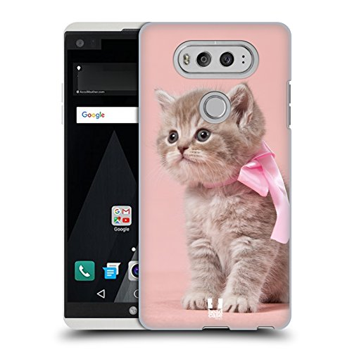 Case+Charm Ultra-thin Polycarbonate Protector Fits LG V20 Hard Back Cover Snap on Pink Cute Cat/Kitty/Kitten with ()