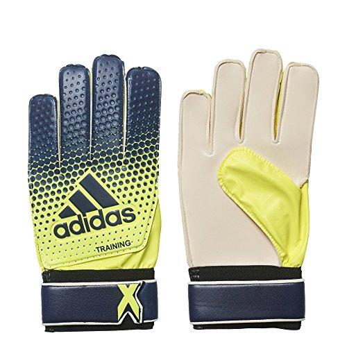 adidas Performance X Training Goalie Gloves, Legend Ink/Solar Yellow, Size 7
