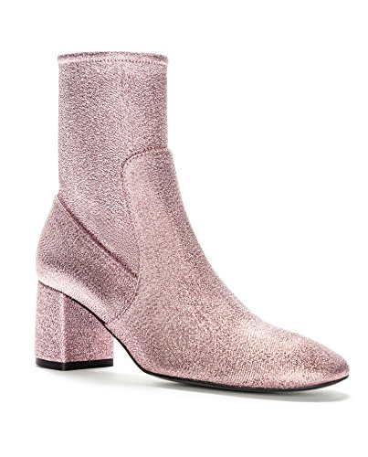 Bimba y Lola Femme Pink Lurex Ankle Boot 172BZ0648 (39 EU   8 US   6 UK)