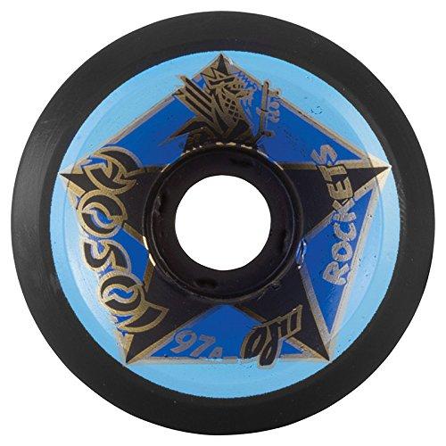 好き通常罹患率オージェー (OJ) HOSOI ROCKET 61mm 97a (BLACK) スケートボード ウィール スケボー