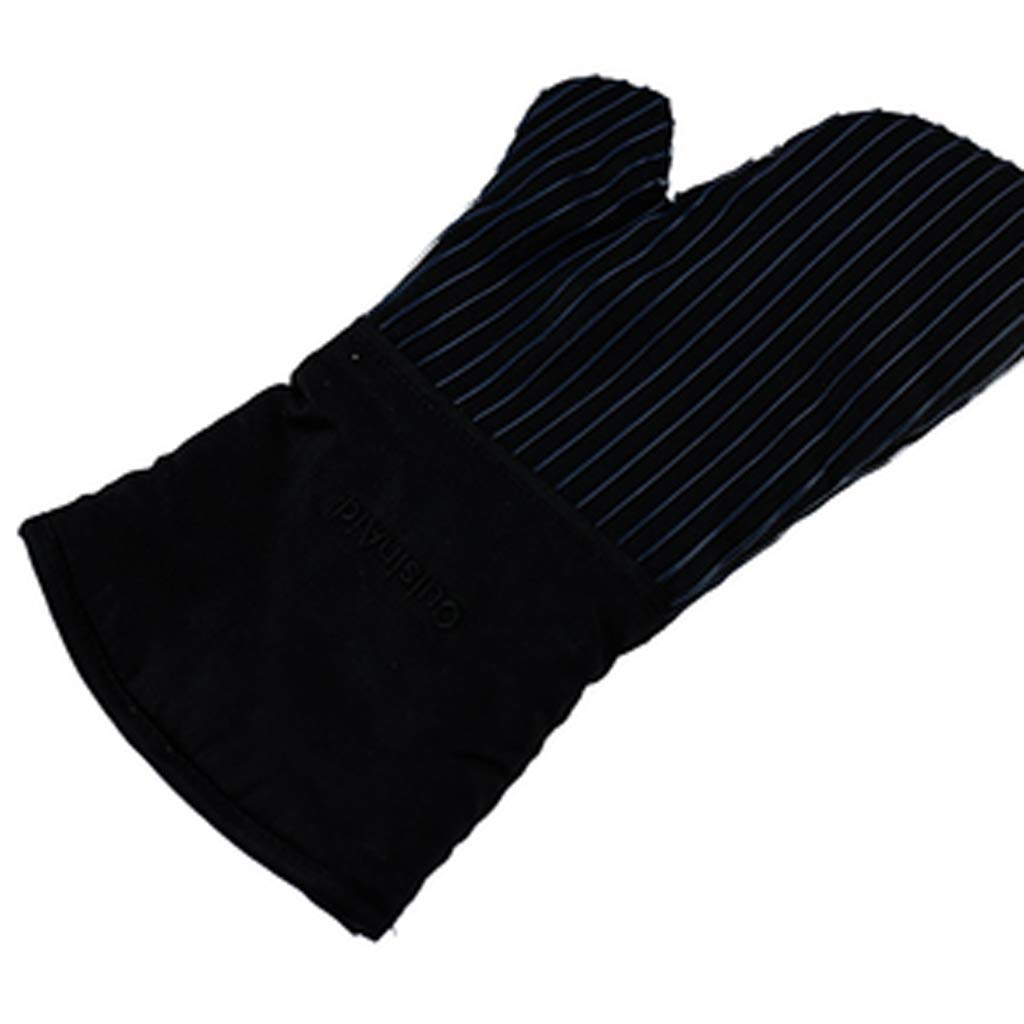 Ffrzd Silicone Heat Resistant Oven Gloves - Waterproof Non Slip Oven Mitts Kitchen Cooking Gloves (Color : Black)