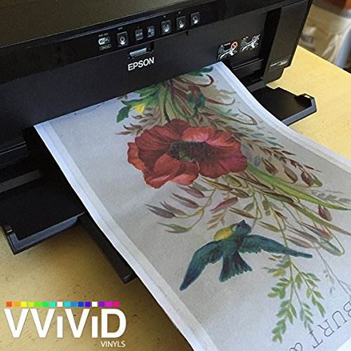 Printable Inkjet Primed Gessoed 8.5'' x 11'' Canvas Paper Sheets (100 Sheets) by VViViD (Image #4)
