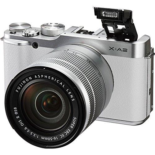 Fuji X-A2/XC16-50mmF3.5-5.6 II (White) + Sony 32GB SDXC CLASS 10 UHS-1 Memory card + Focus Point & Shoot Digital Camera Accessory Kit (Large)