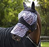 Horze Zebra Comfort Sun ProTec Fly Mask With Ears and Removable Nose (Large)