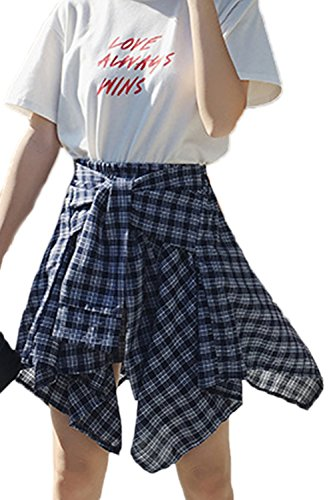 Jupes Jupe Irrgulire De Des Mini Darkblue Culottes Cravate cossaise Vintage x7UAggqwH