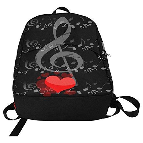 InterestPrint Custom Music Note Love Heart Casual Backpack School Bag Travel Daypack by InterestPrint (Image #3)