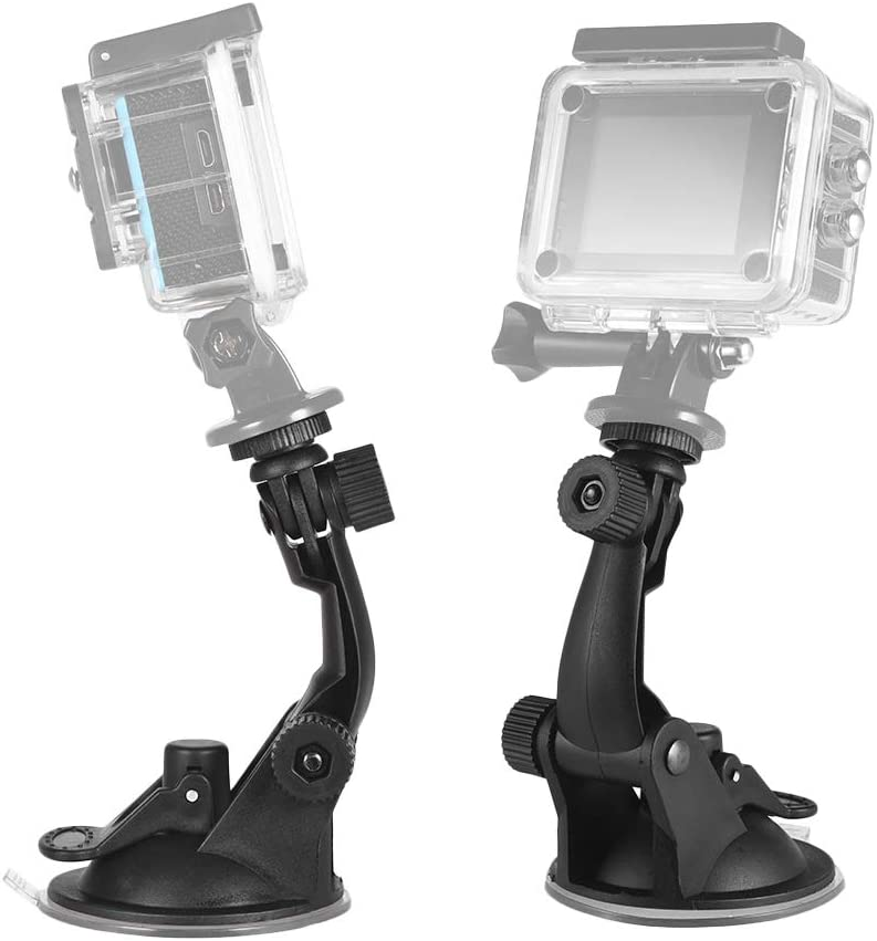 RuleaxA Action Camera Accessories Car Suction Cup Mount Tripod Adapter for GoPro Hero 7//6//5//4 SJCAM//YI