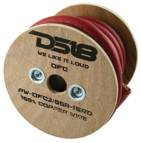 DS18 PW-OFC2/0GA-15RD True 2/0-Gauge Ultra Flex OFC Oxygen Free Copper Ground Power Cable, 15' (Red) by DS18 (Image #1)