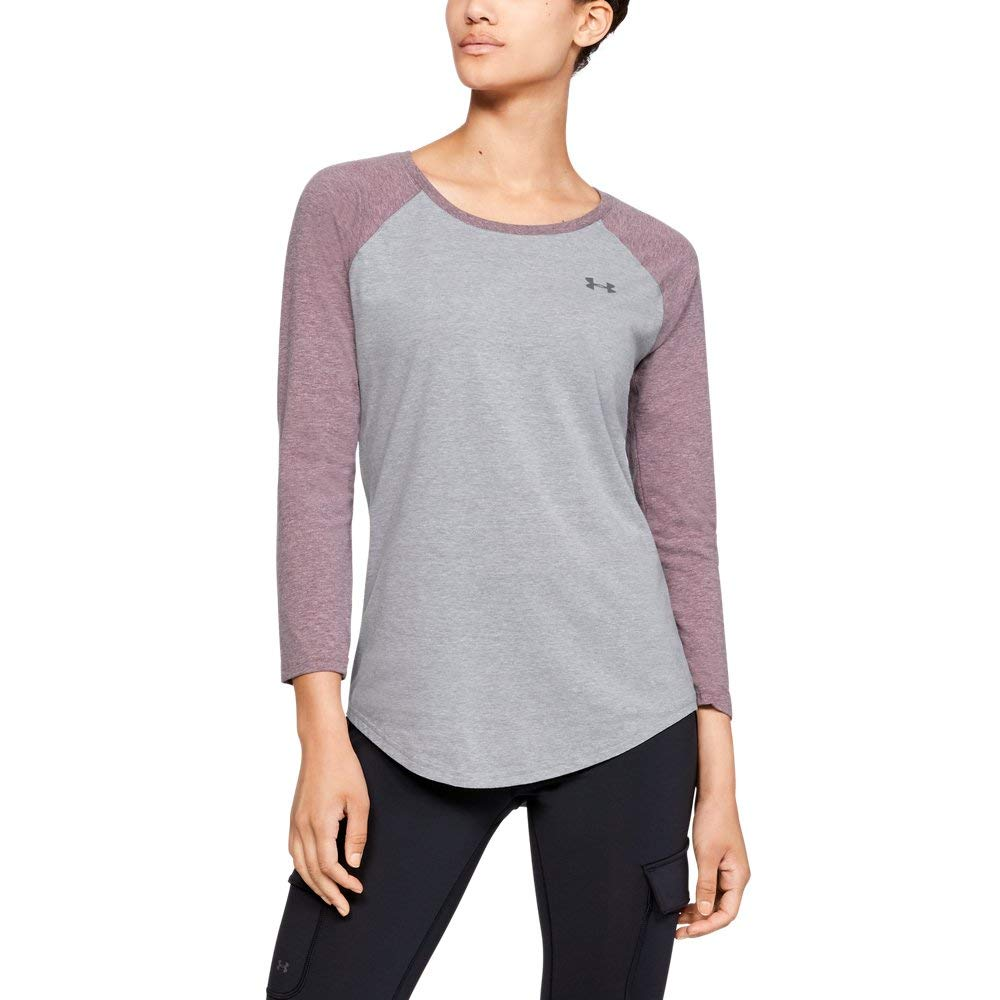 Under Armour Women's Outdoor Utility Tee, Steel Light Heather (037)/Steel, Large by Under Armour