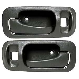 driver and passenger rear inside inner grey door handles replacement for honda. Black Bedroom Furniture Sets. Home Design Ideas
