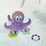 Nuby Floating Purple Octopus with 3 Hoopla Rings