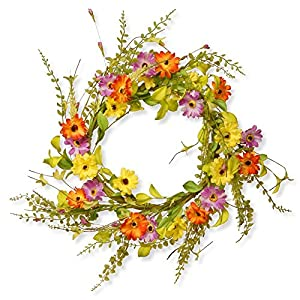 National Tree Company 20 in. Flower Wreath 8