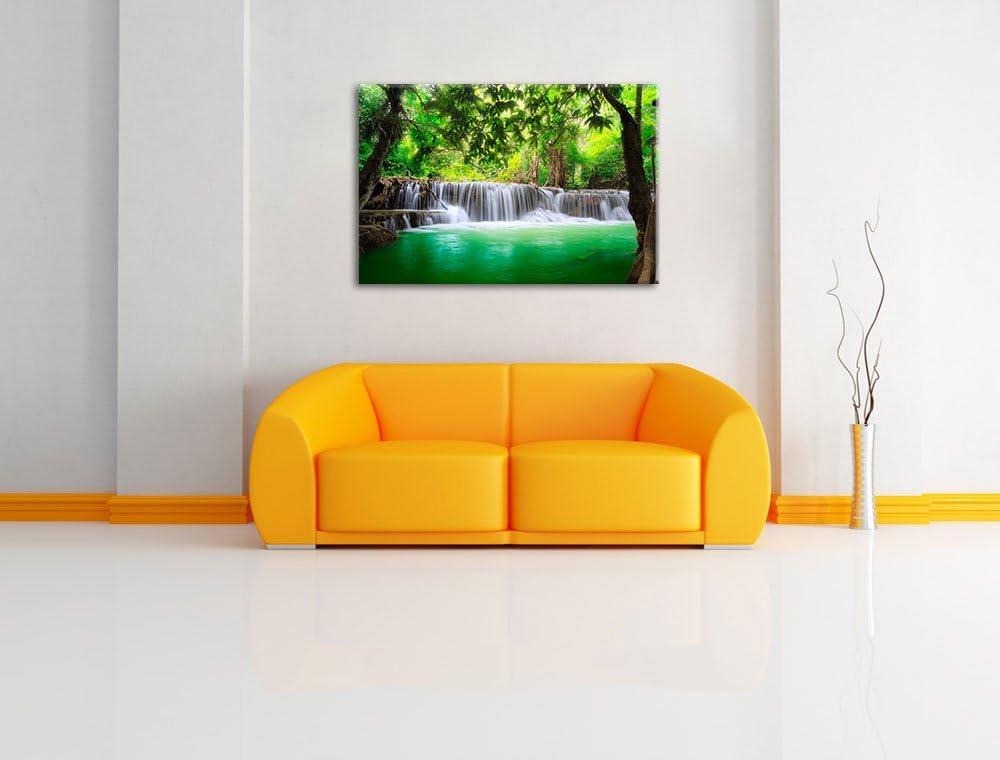 Petite cascade dans la jungle Format: toile 60x40auf limpression de limage Art mural avec cadre aucune affiche moins cher que peintures /à lhuile et de limage XXL /énormes Photos compl/ètement encadr/és par la civi/ère