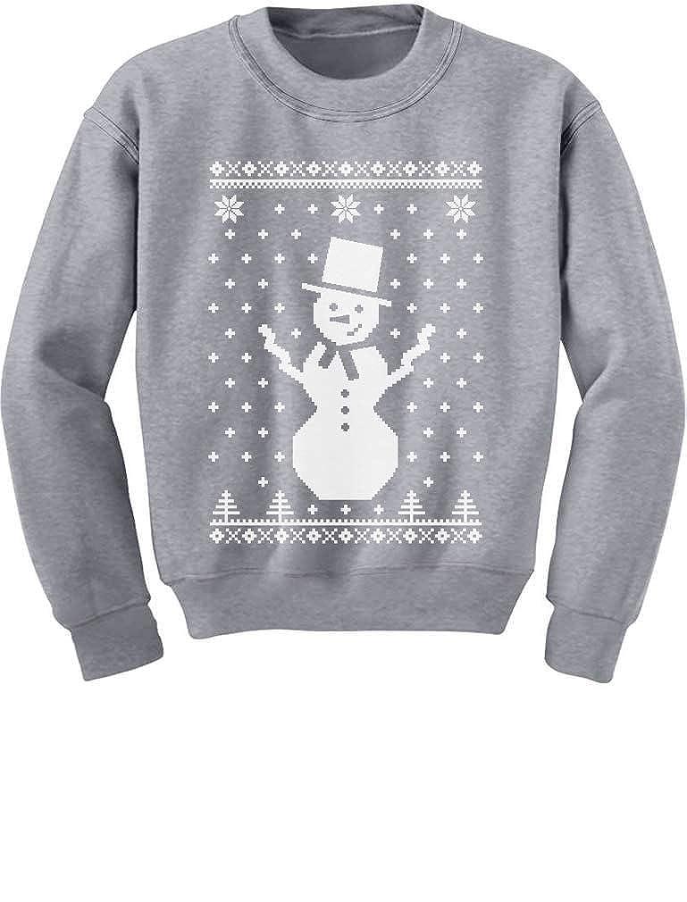 Childrens Big Snowman Ugly Christmas Sweater Cute Xmas Kids Sweatshirt