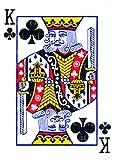 1/2 Sheet - King of Clubs Casino Poker Birthday - Edible Cake/Cupcake Party Topper