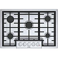 Bosch 800 Series 30 Stainless Steel 5 Burner Gas Cooktop