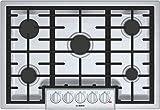 Bosch 800 Series 30' Stainless Steel 5 Burner Gas Cooktop