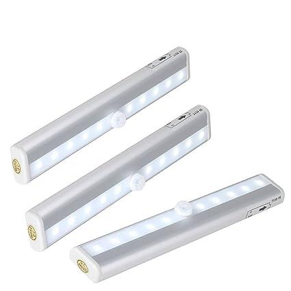 Barra de luz LED Nocturna inalámbrica con sensor de movimiento Wireless para Armario/Cajón/