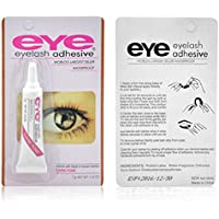 Heaven Queen Waterproof False Eyelashes Makeup Adhesive Eye Lash Glue (Dark Tone)