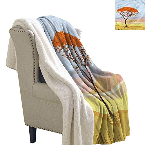 AndyTours Baby Blanket Landscape Fall Season Nature Hills Upgraded Thick Lazy Blanket Blanket W59 x L47
