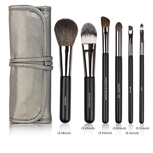 Realife 6Pcs Makeup Brushes Set for Eye Makeup and Face Kabuki Foundation Kits with Cases (Borghese Liquid)