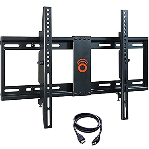 ECHOGEAR Tilting Low Profile TV Wall Mount Bracket for 32-70 inch TVs - Up to 15 Degrees of Tilt for LED, LCD, OLED and Plasma Flat Screen TVs with VESA patterns up to 600 x 400 - (Monitor Wall Mount Flush)
