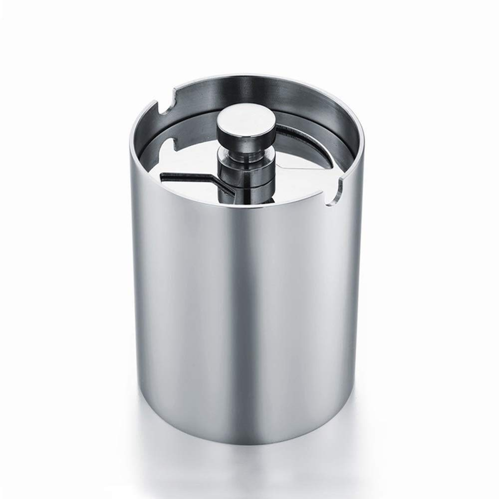 Ashtray/car Ashtray Creative Personality with Cover Multi-Function Anti-Windmill Stainless Steel Car Cylinder with Lid