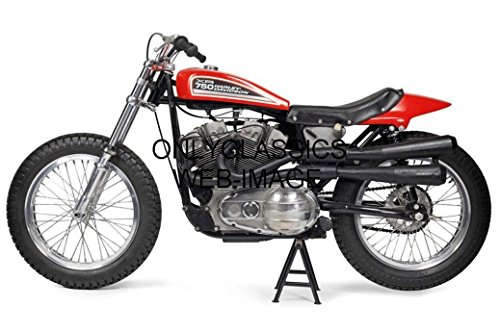 OnlyClassics Harley Davidson XR-750 8x12 Photo AMA Motorcycle Flat Track Racing Awesome Racer