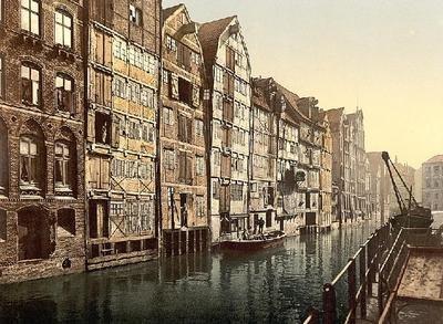 Wentworth-Wooden-Puzzles / Hamburg - HafenCity um 1900 (Holländischer Brook)