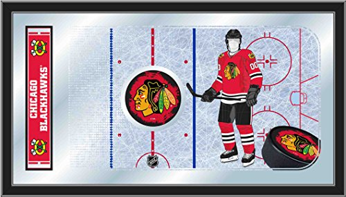 Holland Bar Stool Company NHL Chicago Blackhawks 15x26-Inch Hockey Rink Mirror
