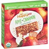 Happy Kid Apple + Cinnamon Fruit & Oat Bars 5-0.99 oz( total 4.95 oz) Bars