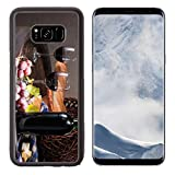 Liili Premium Samsung Galaxy S8 Plus Aluminum Backplate Bumper Snap Case IMAGE ID: 18130004 still life with red wine bottle glass and old barrel