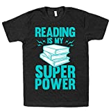 HUMAN Reading Is My Super Power Athletic Black XL T-Shirt