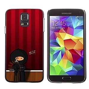LECELL--Funda protectora / Cubierta / Piel For Samsung Galaxy S5 SM-G900 -- Artist Theatre Ninja --