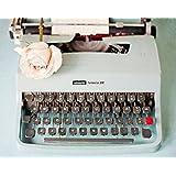 Susannah Tucker Photography – Back In Time Blue Typewriter Fine Art Print (25.40 x 30.48 cm)