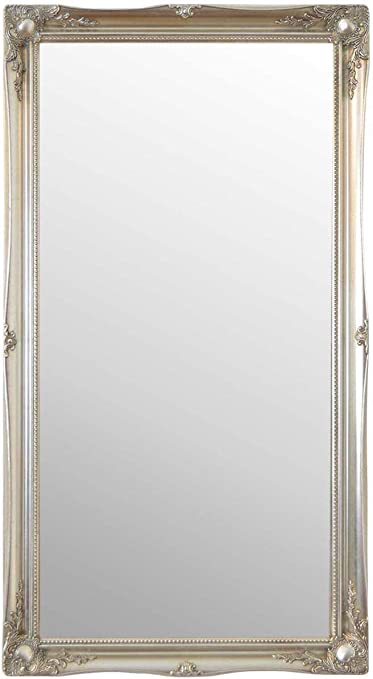 Large Silver Ornate Antique Design Big Wall Mirror 4ft6 X 2ft6 137cm X 76cm Amazon Co Uk Kitchen Home