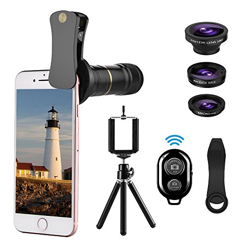 UMTELE Telephoto Fisheye Bluetooth Shutter