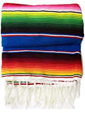 Zarape Mexican Blanket Grande - Large Colorful Mexican Blanket - (45