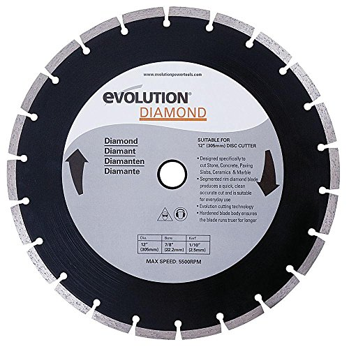 Evolution Power Tools 12BLADEDM 12-Inch Diamond (Electric Concrete Saw)