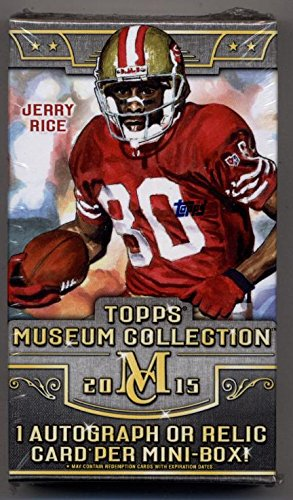 Collection Hobby Box (1 (One) Mini Box - 2015 Topps Museum Collection Football Hobby Mini Box)