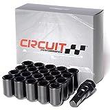 Circuit Performance Tuner Key Acorn Lug Nuts Black 12x1.5 Forged Steel (20pc + Tool)