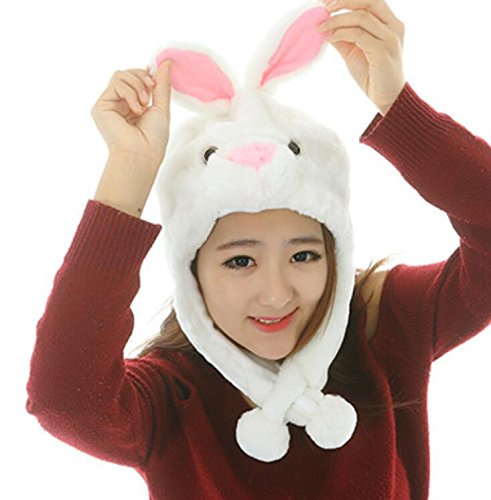 Goodscene Party decoration accessories Cute Cartoon Performance Headwear Plush Animal Headgear (White Little Rabbit) by Goodscene